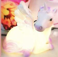 New LED Unicorn Night Light Battery Table Bedroom Lamp Wings Kids Girls Bedside