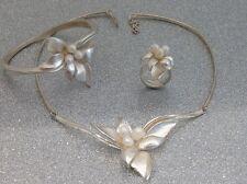 WERT 900,- € ungewöhnliches Designer Schmuckset - Perlen - 925/- Silber