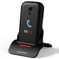 Téléphone Portable Senior à Clapet Amplifié (2G) Swissvoice S28 Noir
