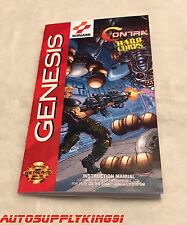 CONTRA HARD CORPS Sega Genesis Video Game Custom Art Manual Booklet Only