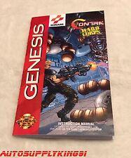 Contra Hard Corps Personalizzato Art Manuale Libretto solo per Sega Genesis