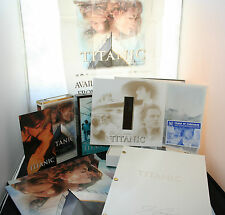 TITANIC Movie: 2 Box Collectors Set, Posters & Movie Book- 28 pieces(incl.boxes)