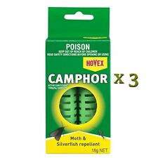 HOVEX Camphor Moth and Silverfish Repellent 18g x 3 Packs