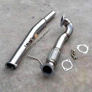 """For Audi TT S3 Quattro 1.8T Mk1 8N/L 3"""" Inch Turbo Exhaust Decat Downpipe SS304"""