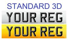 Pair Standard Number Plates STANDARD 3D LETTERS 100% MOT Compliant - FREE POST