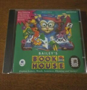 Bailey's Book House PC Mac Reading Letters Words sentences Rhyming stories CD