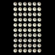 IVORY PEARLS 7MM SELF ADHESIVE 60 PEARLS PER SHEET
