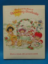 "RARE 1982 STRAWBERRY SHORTCAKE DOUBLE POCKET FOLDER ""SHARE A TREAT WITH SOMEONE"""