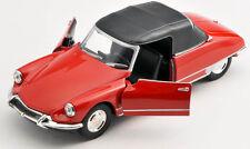 Livraison rapide CITROEN DS 19 cabriolet rouge/red 1:34 welly Modèle Auto NEUF & OVP