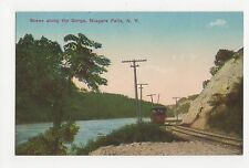 USA, Scene Along The Gorge, Niagara Falls NY Postcard, A805