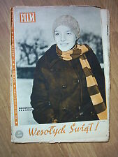MAŁGORZATA BRAUNEK on cover archive Film 50-51/69 Polish magazine