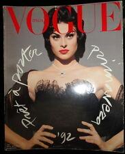 Vtg Vogue Italia 3/1992 Linda Evangelista Christy Turlington Shana Zadrick Naomi