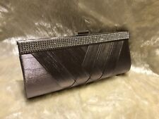 SATIN GREY Ladies Clutch/Hand Bag Wedding, Prom,Evening Party.Great Quality