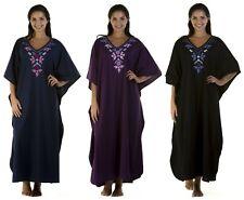 Ladies ONE SIZE luxury Long Drop Sleeve Kaftan Tunic Loose Dress Nightwear