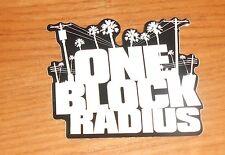 One Block Radius Sticker 2-Sided Original Promo 2.5x3