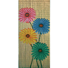 Bamboo54 Quad Flowers Outdoor Curtain Many Colors