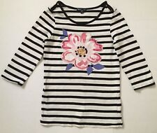 Gap Kids Youth Girls Striped & Floral Patchwork Sequins Tunic Top Sz. L(10)
