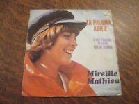 45 tours MIREILLE MATHIEU la paloma adieu
