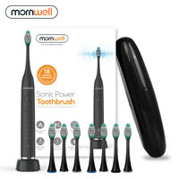 Electric Toothbrush USB Inductive Charging Sonic 8 Brush Heads & Travel Case
