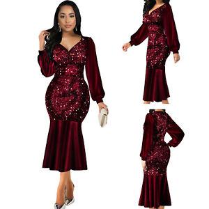 Women Summer Sequin Ladies Sparkle Gliter Ladies Midi Dresses Size 6-22 E8101