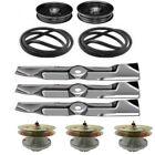 """Deck Rebuild Kit Spindle Belt Blades for John Deere Mower 325 335 345 355D W/48"""""""