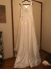 Tailored Size 16 Princess Classic Wedding Dress Italian Designer Oleg Cassini