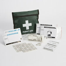 1 Person HSE Travel / Off Site / Lone Worker First Aid Kit in Green Belt Pouch