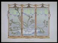 LA MER, PARAVENT -1898- LITHOGRAPHIE, ART NOUVEAU, BONVALLET