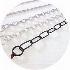 Herm Sprenger Black Stainless Steel 3.0mm Long Link Fur Saver Dog Collar