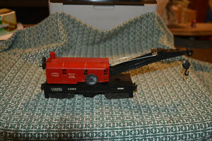 Lionel #6560 Red Cab Type IV Crane Operates Nicely with 1955 Tab Trucks