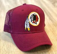 WASHINGTON REDSKINS Cap Trucker Hat Patch Style Mesh Adjustable Retired Old Logo