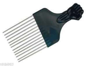 AFRO Comb Fist Design Black