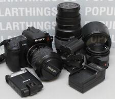 Sony Alpha a350 14.2MP Digital SLR Camera-50mm/18-70mm/70-300mm Lens-Flash