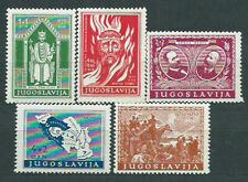 Yugoslavia - Correo 1940 Yvert 375/9 (*) Mng