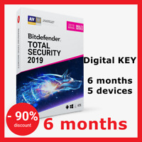 Bitdefender Total Security Multi-Device 2019,2018: 6 months, 5 devices