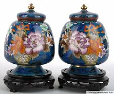 Cina 20. JH. vasi a pair of Chinese cloisonné vases YU FORMA VASO CINESE cinois