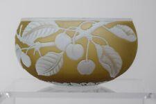 Webb Cameo Glass Bowl with Cherries, Circa 1920