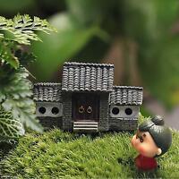 Fairy Garden Miniature Resin House Figurine Craft Micro Landscape Ornament Decor