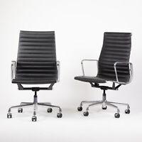 2008 Eames Herman Miller Aluminum Group Executive Desk Chair Black Sets Avail