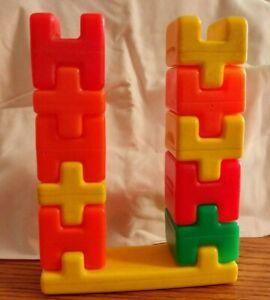 Playskool Lot of Plastic Blocks With Base