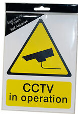 CCTV Warning Sign Quality Hard Plastic - Does Not Fade Like Cheaper Ones