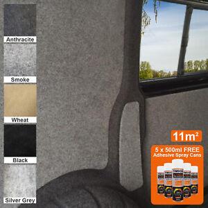 Camper Van Carpet Lining 11m2 Super Stretch Motor Home Trim & 5 Adhesive Can Kit