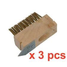 3 X PATIO DRIVE BLOCK PAVING WIRE HEAD BRUSH METAL RAKE SPIKE WEED SCRAPER
