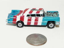 Small Micro Machine Cadillac 1959 style Limousine in Red/White/Blue