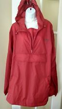 Cotton traders waterproof  Red rain coat Size  L/XL with hood and carry bag