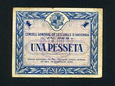Andorra:P-1,1 Pesseta,1936 * Arms * Rare *