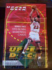 Vintage 1994 Upper Deck Michael Jordan Basketball Promo Poster  Rare!