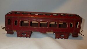 One Antique Tin Metal Passenger Car Train - AS IS For Parts Repair Decor