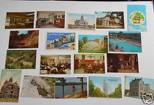 LOT OF 18  INDIANA VINTAGE POSTCARDS RICHMOND EVANSVILLE NEW ALBANY MITCHELL ETC
