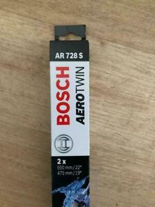 Genuine Bosch AR728S Wiper Blades Fits BMW 3 Series 04.98 To 04.05 FFB KUR